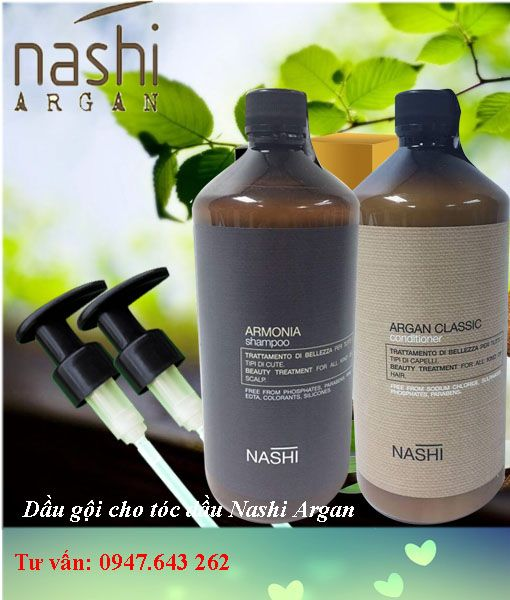Dầu gọi xả nashi argan trị gàu và cho tóc dầu